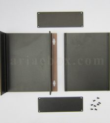 نمای باز جعبه آلومینیومی منبع تغذیه موبایل abl435-a2m