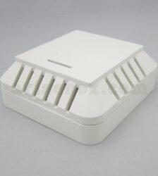 نمای سه بعدی جعبه دیواری سنسور دما رطوبت دود ABM125-A1