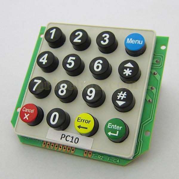 کیپد پلاستیکی 4×4 گرد انگلیسی مدل PC10