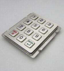 کیپد استیل 4×3 انگلیسی سفارشی مدل ST 3×4-ES