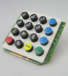 کیپد گرد پلاستیکی 4×4 انگلیسی مدل PC5 با ابعاد 78×83