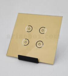شیشه چهار پل طلایی کلید هوشمند GL2-GP4 با ابعاد 2×86×86